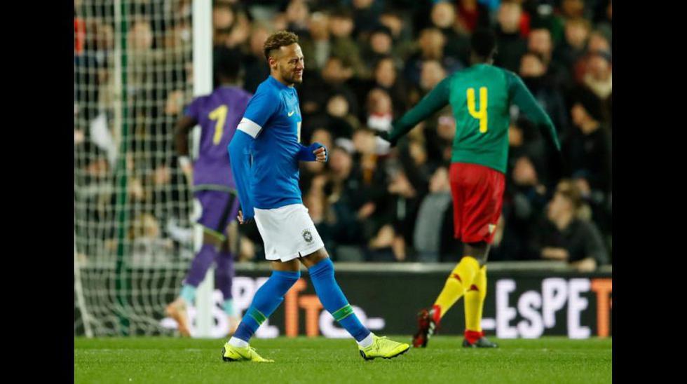 Brasil vs. Camerún: Neymar y la lesión que lo sacó del amistoso a los 6 minutos. (Foto: AFP)