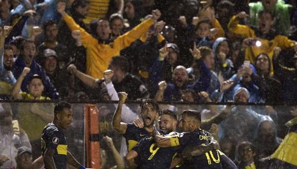 Boca Juniors venció a Jorge Wilstermann por la Copa Libertadores en la Bombonera. | Foto: AFP