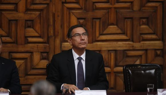 """Martín Vizcarra consideró que el país puede resolver sus problemas """"por los cauces legales y constitucionales"""". (Foto: Mario Zapata)"""