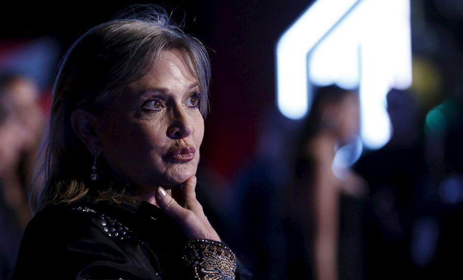 """Carrie Fisher dejó de existir luego de haber filmado sus escenas para """"Star Wars: Episodio VIII"""". Foto: Reuters."""