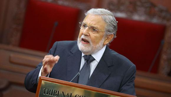 Ernesto Blume, presidente del Tribunal Constitucional, fue ponente de la resolución a favor del hábeas corpus que liberó a Keiko Fujimori. (Foto: Andina)