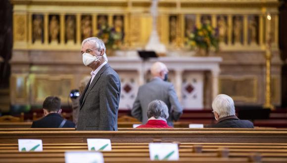 Coronavirus en Alemania: Más 40 personas se contagian de Covid-19 en misa bautista en Fráncfort. (Foto referencial: Odd ANDERSEN / AFP).