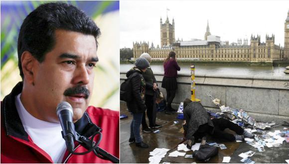"""""""Basta de terrorismo"""", Maduro se solidariza con Londres"""