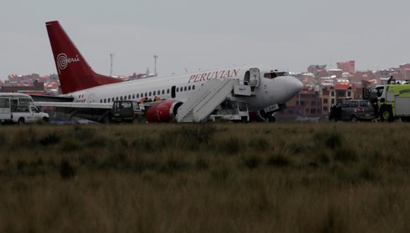 """La aeronave de Peruvian Airlines transportaba a 122 pasajeros y cinco miembros de la tripulación que """"están ilesos"""", según autoridades de Bolivia. (Reuters)"""
