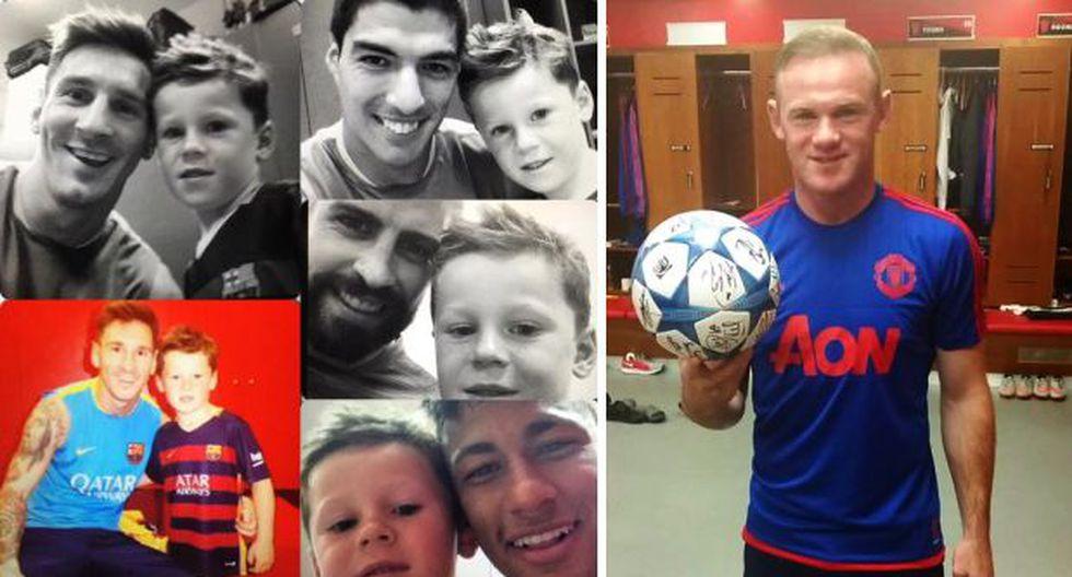 Hijo de Wayne Rooney se hizo selfies con cracks del Barcelona