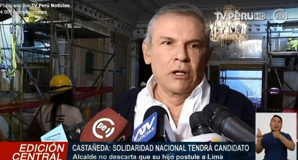 El burgomaestre remarcó que Solidaridad Nacional sí va a presentar candidato para la Municipalidad de Lima. (TV Perú)