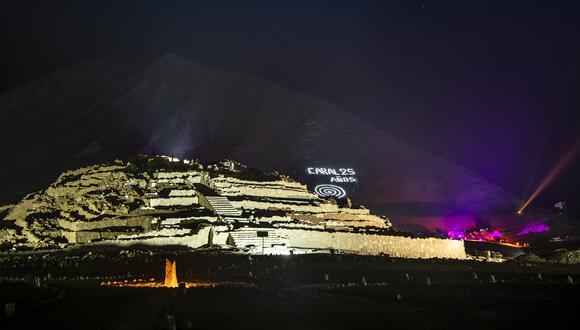 El templo mayor de Caral cuenta con casi 30 metros de altura. (Foto: Zona Arqueológica de Caral)
