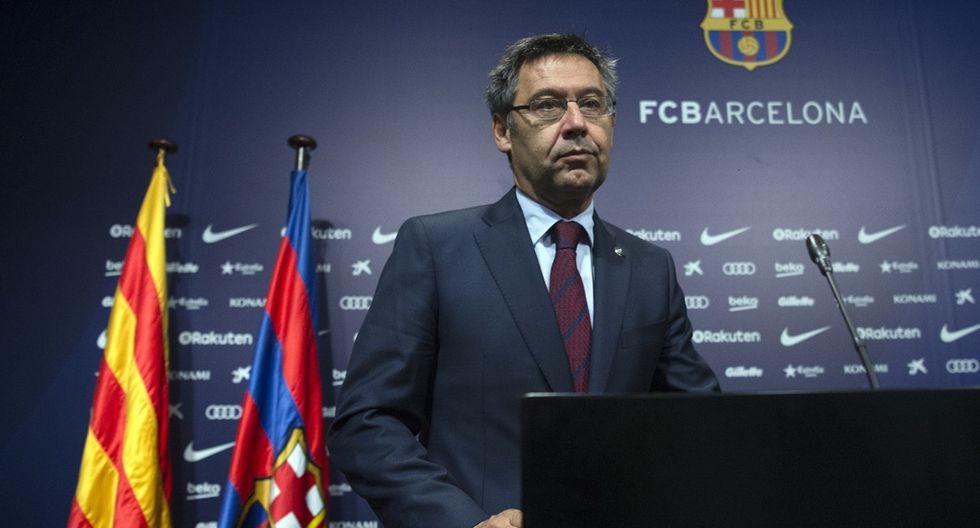 Josep Maria Bartomeu, el presidente del Barcelona estaría en serios aprietos por difamar a sus jugadores. (Foto: EFE)