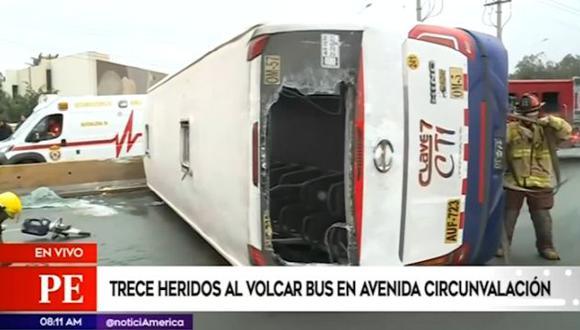 Heridos de accidente fueron trasladados hasta las clínicas San Pablo e Internacional. (Captura: América Noticias)