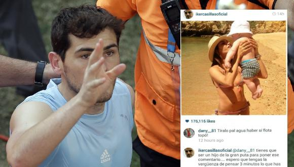 Iker Casillas indignado por un comentario en su Instagram