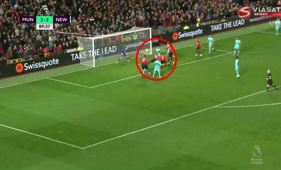Manchester United vs. Newcastle: Alexis Sánchez y el gol para el 3-2 con el que salvó a Mourinho. (Foto: captura)