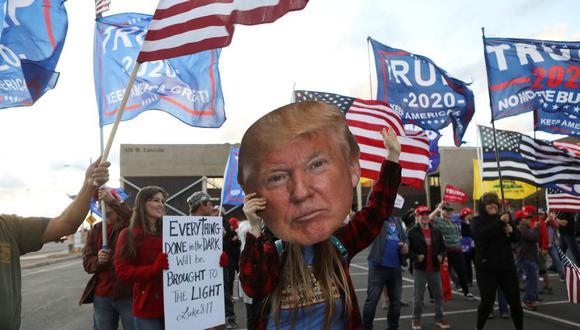 Partidarios de Donald Trump en Arizona se reúnen en una protesta después de que Joe Biden fuese declarado ganador de las elecciones presidenciales en Estados Unidos, el pasado fin de semana. (Foto: Reuters/Jim Urquhart).