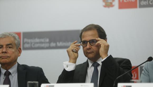 Francisco Ísmodes, ministro de Energía y Minas, habló de los avances en la refinería de Talara. (Foto: USI)
