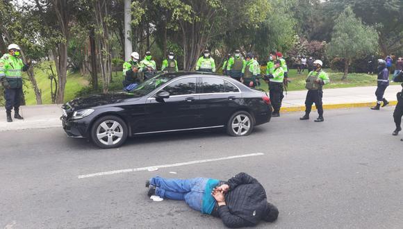Policía captura a tres delincuentes tras persecución y balacera. (Foto: Municipalidad de San Borja)