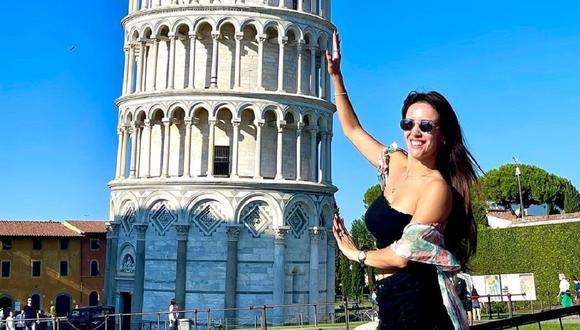 Rosángela Espinoza conoció la Torre de Pisa. (Foto: @rosangelaeslo).