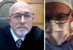 El cirujano que participó en una audiencia judicial en Estados Unidos mientras operaba a un paciente