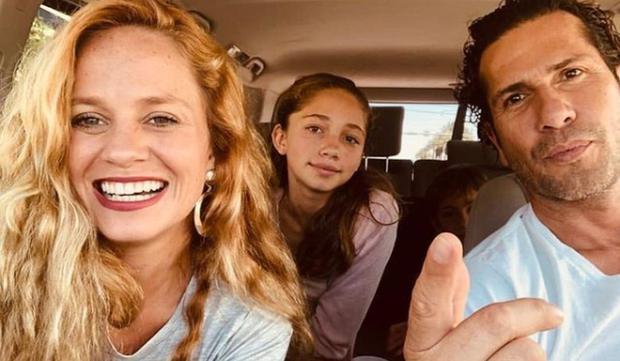 El actor junto a su esposa Erika y su hija Luna, a quienes ama locamente (Foto: Gregorio Pernía / Instagram)