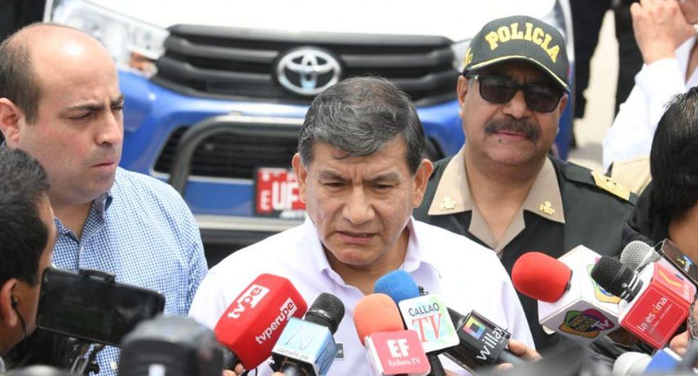 El ministro Carlos Morán presidió la ceremonia de entrega de 40 nuevos vehículos adquiridos por la municipalidad distrital de Ventanilla (Mininter)