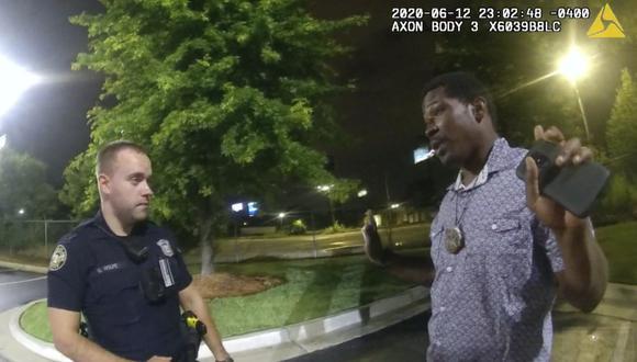 Cómo fueron los últimos minutos de Rayshard Brooks, el afroamericano asesinado en EE.UU. por policías  (Foto: Atlanta Police Department via AP)