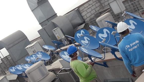 Movistar  instaló conexión a TV paga en el hospital de la Villa sin costo mientras dure la emergencia. (Foto: Movistar)