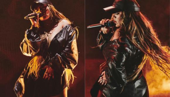 """Karol G interpretó """"Ay, Dios mío!"""" en la reciente edición de los Premios Juventud. (Foto: @PremiosJuventud)"""