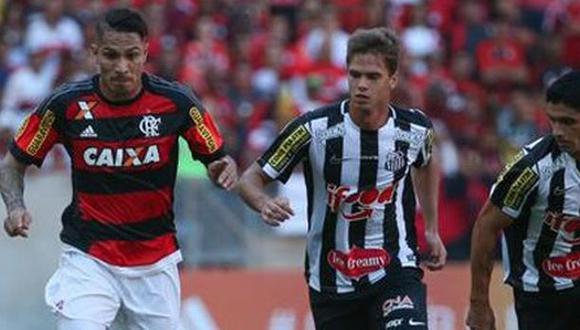 Con gol de Guerrero: Flamengo ganó 2-0 a Santos en el Maracaná