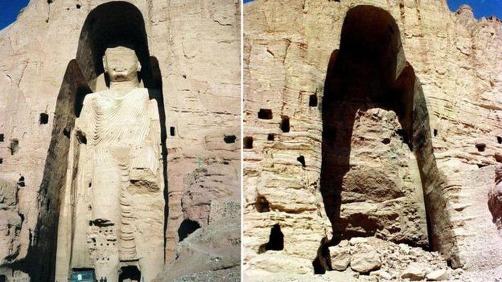 Las diferencias políticas ideológicas en Afganistán condujeron a la triste destrucción de los Bamiyan. Foto: GETTY IMAGES, vía BBC Mundo