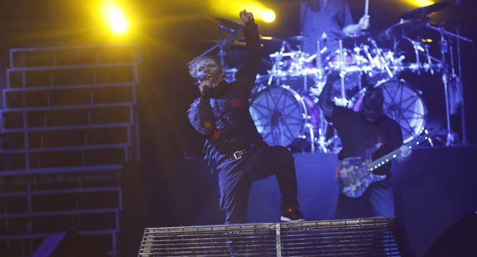 Slipknot durante show en Lima, en 2016. (Foto: Mario Zapata/ El Comercio)