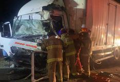 La Libertad: choque frontal entre dos camiones deja dos choferes muertos l VIDEO
