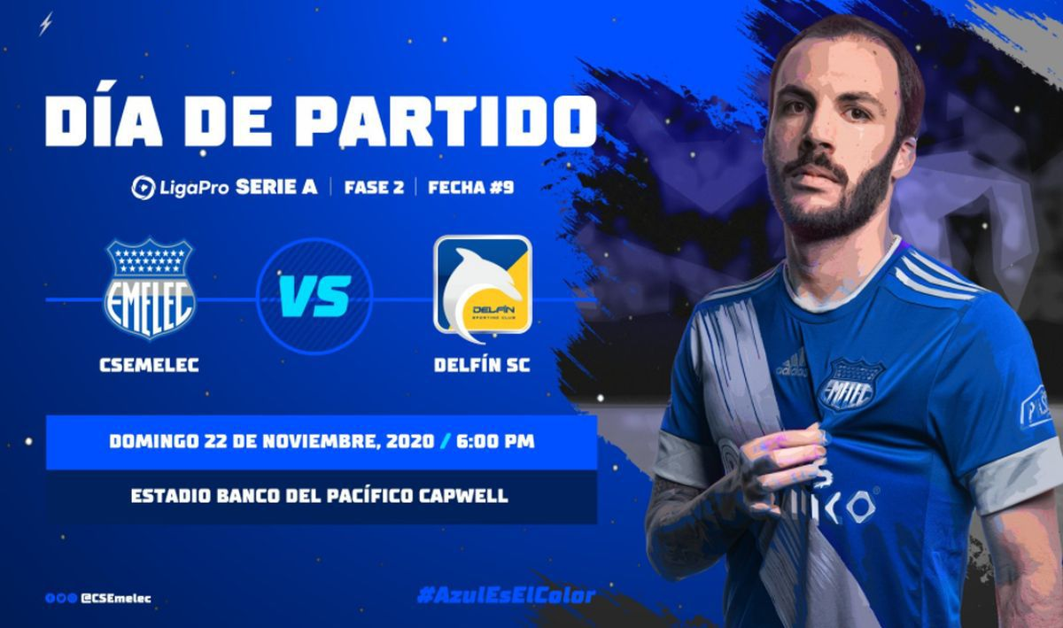 Emelec se mide ante Delfín en un partido que promete ser intenso de principio a fin | Foto: Club Sport Emelec