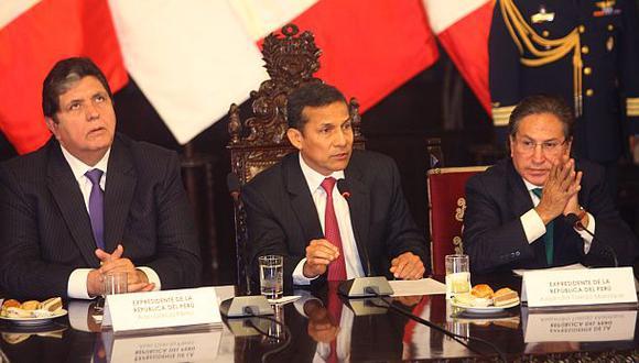 Alan García, Ollanta Humala y Alejandro Toledo, tres ex presidentes en la mira por Lava Jato, recibieron donativos de empresas investigadas por sobornos, incluida Odebrecht. (Foto: El Comercio)