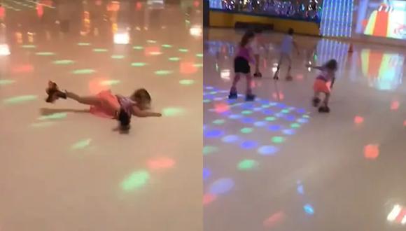 Una niña de 4 años se cayó en plena competencia de patinaje sobre ruedas, pero eso no logra detenerla y logra ganar la competición (Foto: Instagram)