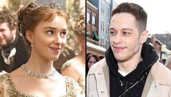 Pete Davidson y Phoebe Dynevor han sido vistos en una situación muy romántica (Foto: Netflix / Getty Imagenes)