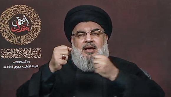 """Hassan Nasrallah: Líder de Hezbolá anuncia que la respuesta al """"ataque"""" israelí en el Líbano ha sido """"decidida"""". (EFE)."""