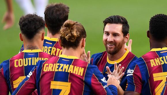Barcelona juega con Ferencváros en la primera fecha de la Champions League (Foto: AFP)