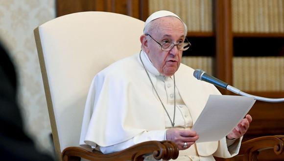 """El papa Francisco agradece a Colombia por su """"valiente"""" política migratoria con los venezolanos. (Foto: AFP)."""