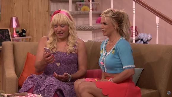 Jimmy Fallon y Britney Spears. (Foto: Captura de pantalla/ YouTube)