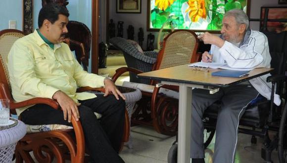 Fidel Castro recibió a Maduro antes de la llegada de Obama