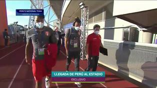 Llegada de la selección peruana al estadio olímpico de Goiânia