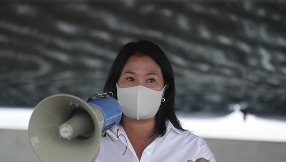 Keiko Fujimori, candidata presidencial de Fuerza Popular, ratificó que indultará a su padre, el expresidente Alberto Fujimori, en caso llegue a la Presidencia de la República | Foto: El Comercio