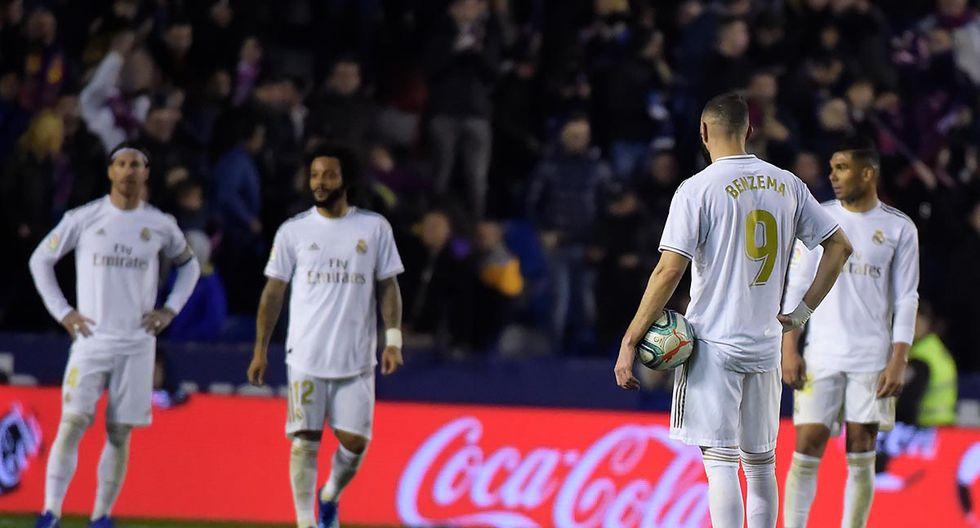 Decepción en Real Madrid. La 'Casa Blanca' cayó por 1-0 ante Levante y perdió el liderato de LaLiga Santander. | Foto: AFP