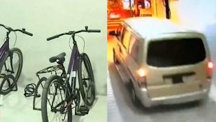 San Isidro: Delincuentes a bordo de una miniván roban bicicletas tras ingresar a cochera de edificio