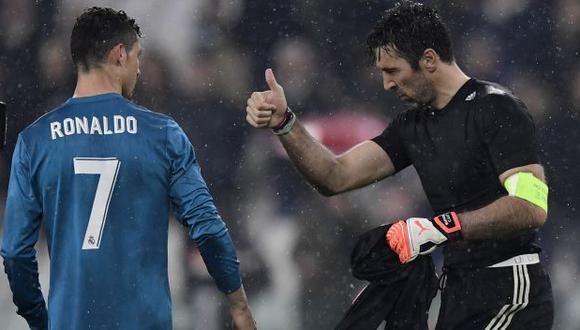 Gianluigi Buffon recordó un gracioso episodio con Cristiano Ronaldo en duelo por Champions League. (Foto: AFP)