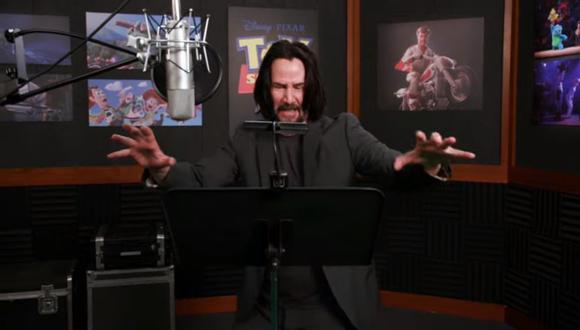 Keanu Reeves da voz a Duke Caboom, un juguete motociclista y 'doble de acción'. Fuente: Pixar