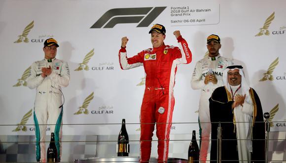 Sebastian Vettel se llevó el Gran Premio de Bahréin de la Fórmula 1. (Foto: Reuters)