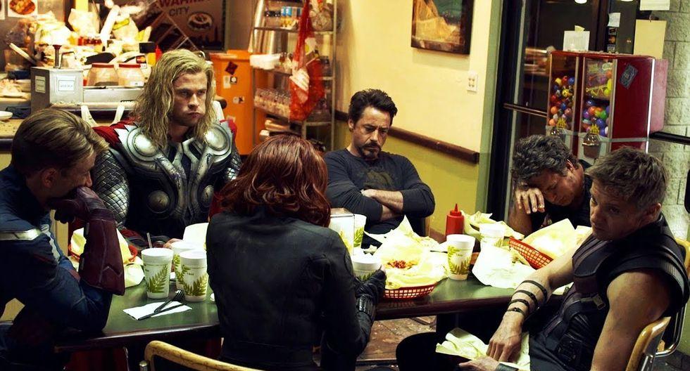 """""""Avengers"""": ¿por qué el Capitán América no come nada durante la escena post-créditos de los shawarmas? (Foto: Marvel Studios)"""