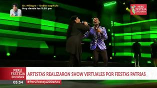 Artistas celebraron fiestas patrias con shows virtuales