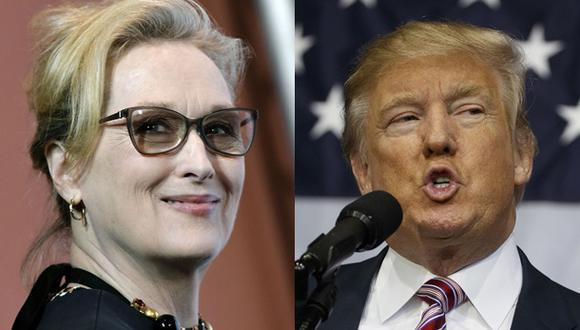 """Meryl Streep: """"Trump hace un óptimo trabajo contra sí mismo"""""""