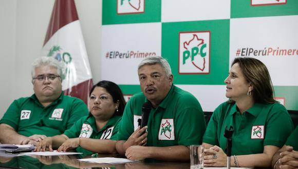 El PPC ocupó el puesto 11 en las elecciones al Congreso de enero último. Obtuvo el 3,99%. No pasó la valla. (Foto: Anthony Niño de Guzmán | GEC)