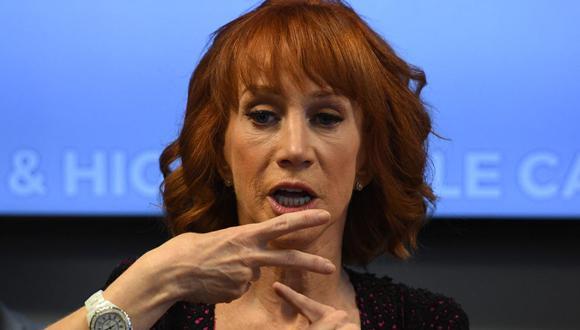 La comediante estadounidense Kathy Griffin revela que tiene cáncer de pulmón. (Foto: AFP)